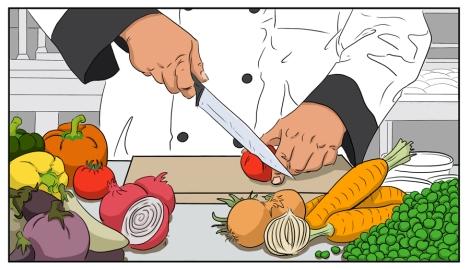 Chef Cutting
